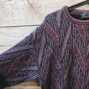 Vintage Sweaters - colourful knit sweater // Vintage